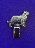 Dog Show Breed Ring Number Clip - Bernese Mountain Dog - FULL BODY Silver or Gold Style